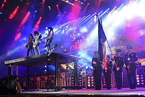 "160709-Z-ZJ128-021C Kiss performs the national anthem during the ""Freedom to Rock"" concert in Eugene, Oregon, USA., July 9, 2016..JPG"