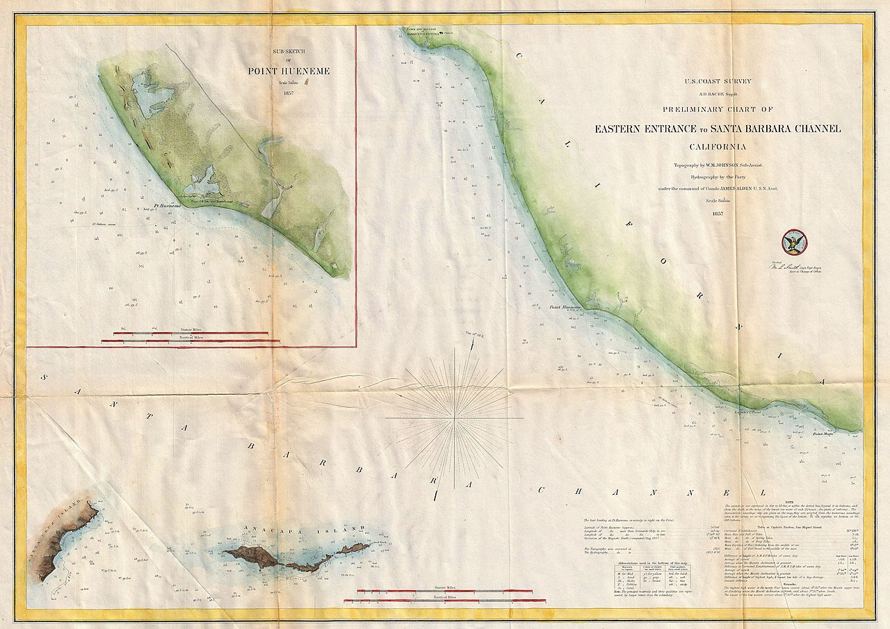 File US Coast Survey Map Of The Eastern Entrance To Santa - Santa barbara on us map