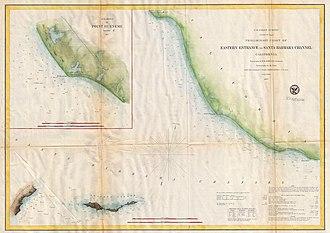 Port of Hueneme - 1857 U.S. Coast Survey Map has inset of Point Hueneme before the harbor was built