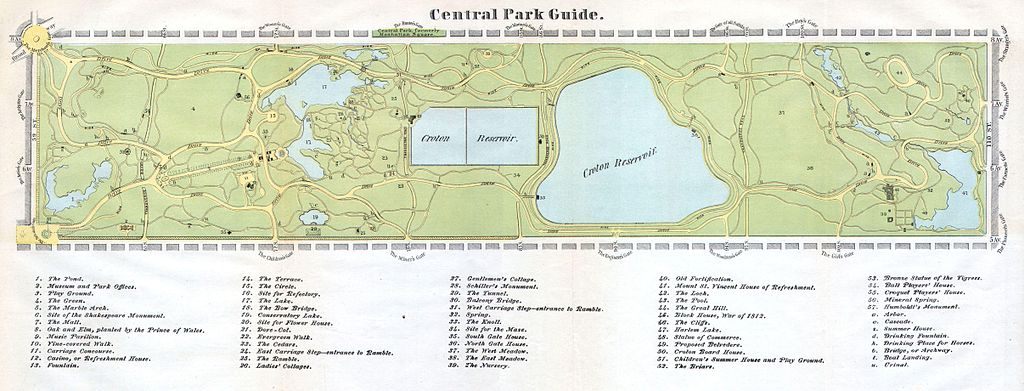 File 1866 Map Of Central Park New York City New York Geographicus Centralparkguide Mcny
