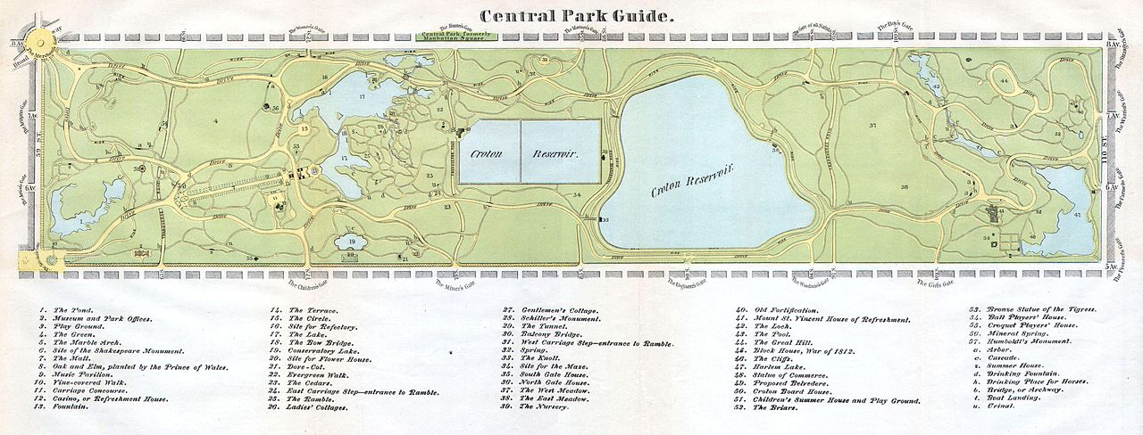 File 1866 Map Of Central Park New York City New York