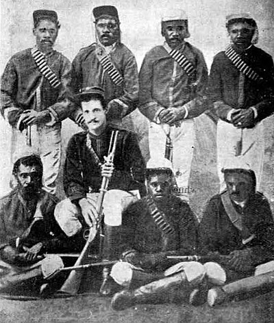 The Australian native police was a British unit of Aboriginal troopers that was largely responsible for the 'dispersal' of Aboriginal tribes in eastern Australia, but particularly in New South Wales and Queensland 1870nativepolice.jpg