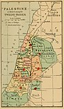1889 Palestine, as divided among the Twelve Tribes.jpg