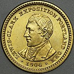 Obverse side of the Lewis and Clark dollar