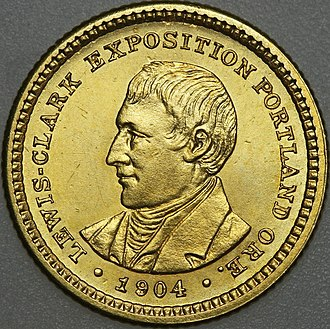 Lewis and Clark Exposition dollar - Image: 1904 Lewis and Clark dollar obverse