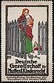 1913 August Hajduk Reklamemarke Deutsche Gesellschaft für Mutter- und Kindesrecht Ausstellung im Reich der Hausfrau.jpg