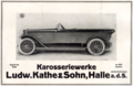 1919-08-15 Echo Continental 7. Jahrgang Seite 142 Ausschnitt unten Karosseriewerke Ludwig Kathe & Sohn, Halle a.d.Saale.png