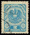 1920 GermanAustria 2 kronen stamp.jpg