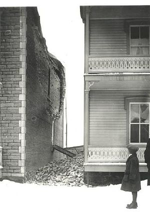 1925 Charlevoix–Kamouraska earthquake - Image: 1925 Charlevoix Kamouraska earthquake damage