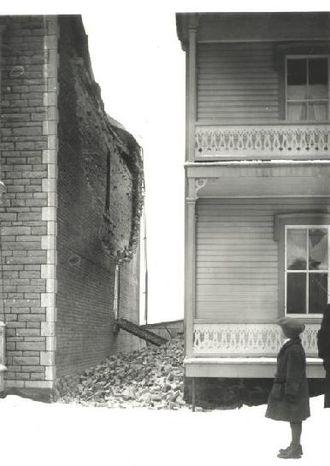 1925 Charlevoix–Kamouraska earthquake - Image: 1925 Charlevoix Kamouraska earthquake damage