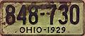 1929 Ohio license plate.JPG