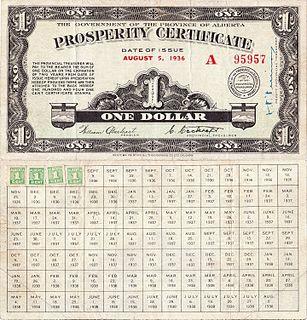 Prosperity certificate