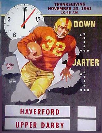 Haverford High School - Haverford vs. Upper Darby Thanksgiving Game Program from 1961