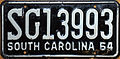 1964 South Carolina license plate.JPG