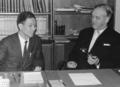1968년 덴마크 유학 시절, 왕국 교회부장관을 방문한 류태영.png