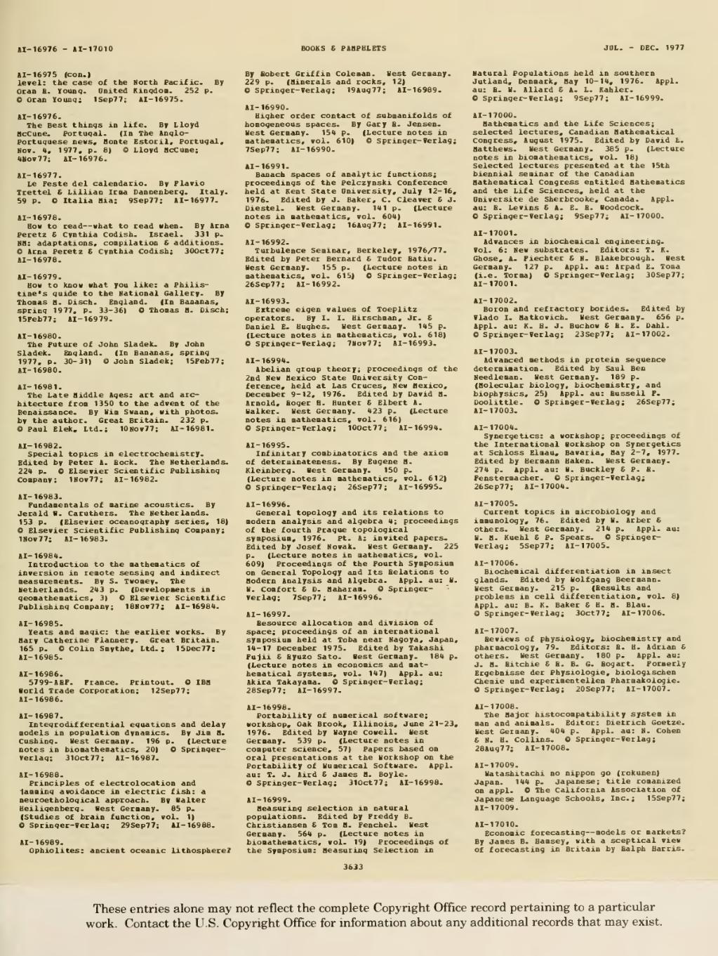 Calendario Del 1977.Page 1977 Books And Pamphlets July Dec Djvu 1747