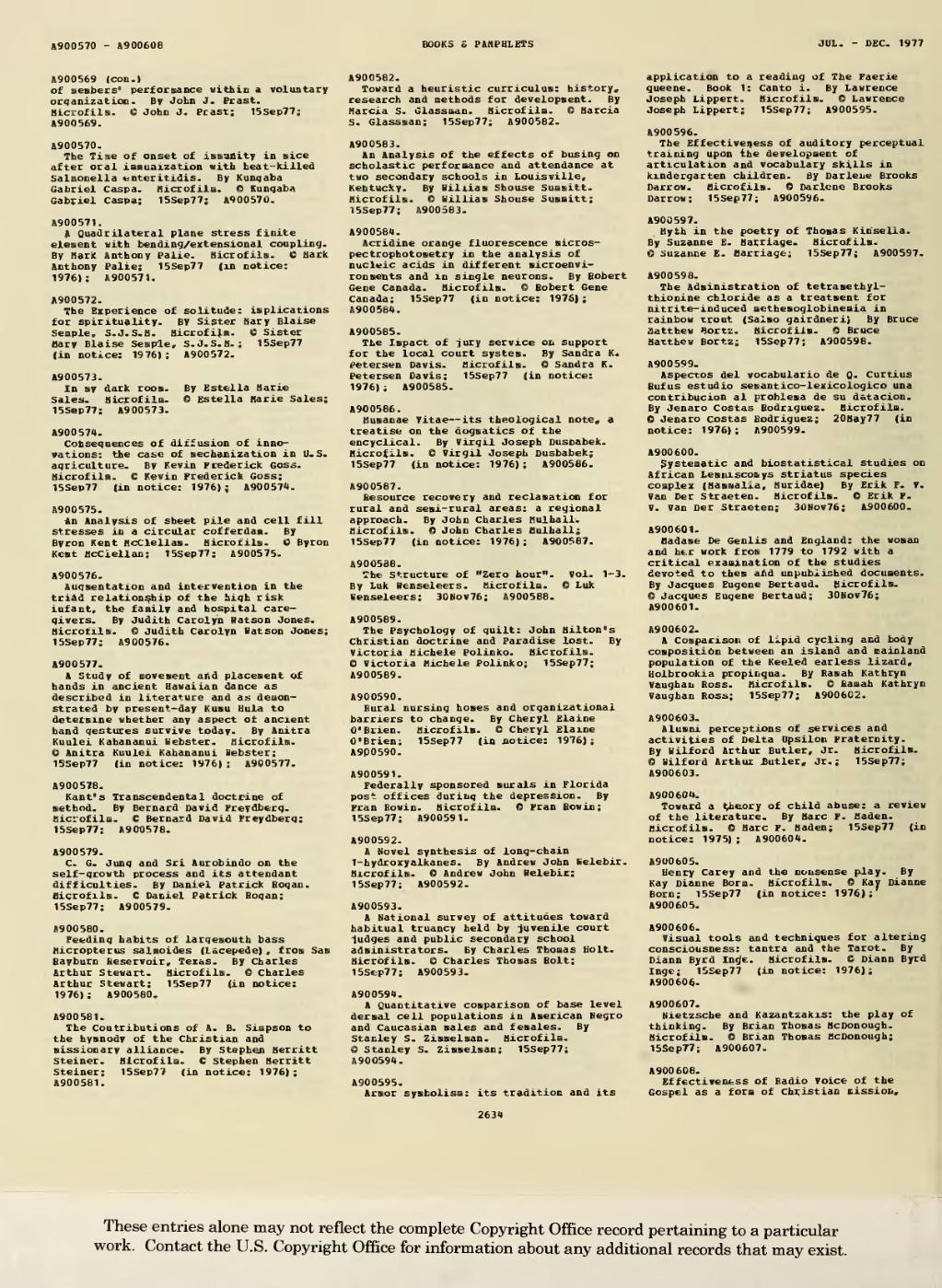 Page:1977 Books and Pamphlets July-Dec djvu/748 - Wikisource