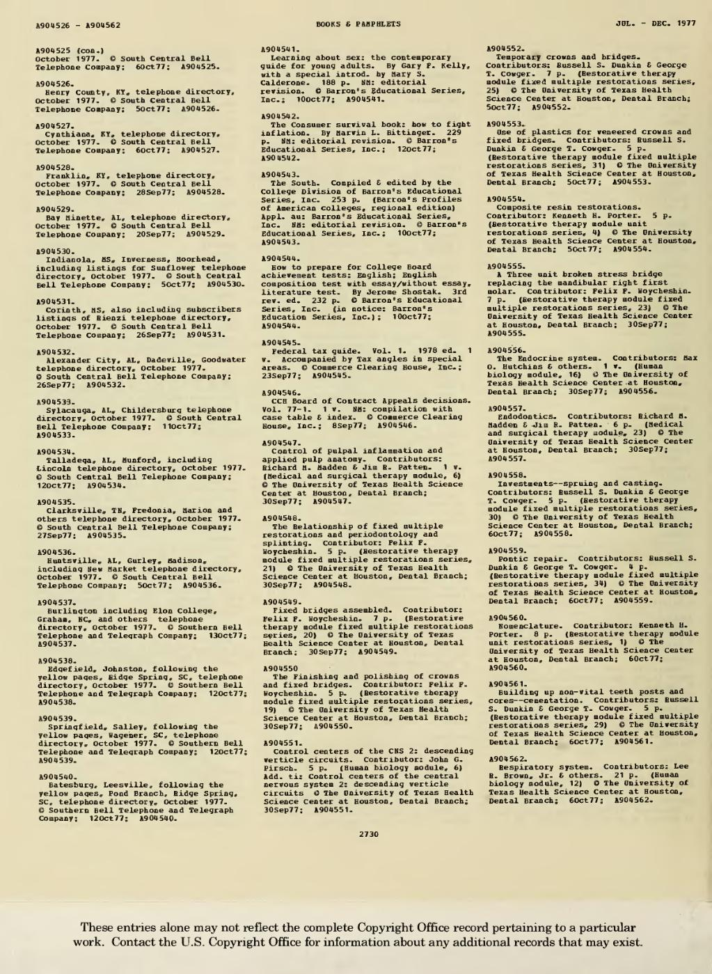 Page:1977 Books and Pamphlets July-Dec djvu/844 - Wikisource