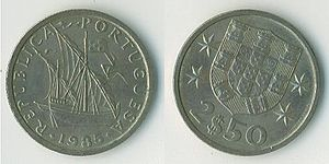 Cifrão - Cifrão on the reverse of a 2.50 Portuguese escudo coin