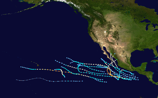 1986 Pacific hurricane season Period of formation of tropical cyclones in the Eastern Pacific Ocean in 1986