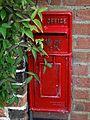 19th-century wall post box at Plucks Gutter Kent England.jpg