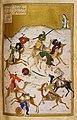 1 Majnun Watching the Battle of the Tribes Niẓāmī Ganjavī, Khamsah 1442-3, Add MS 25900, fol.121v, British Library.jpg