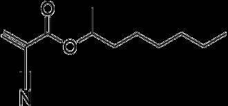 2-Octyl cyanoacrylate - Image: 2 octyl cyanoacrylate