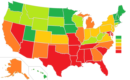 United States Peace Index Wikipedia - Us map wikipedia