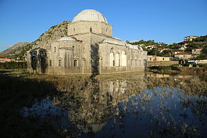 Lead Mosque, Shkodër - Flooded area of the mosque.
