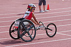 2013 IPC Athletics World Championships - 26072013 - Kazumi Nakayama of Japan during the Women's 400m - T53 first semifinal.jpg