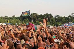 2013 Woodstock 126 fala, crowd surfing