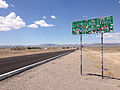 2014-07-18 13 12 47 Sign for the Extraterrestrial Highway along northbound Nevada State Route 375 about 38.7 miles north of Nevada State Route 318 in Rachel, Nevada.JPG
