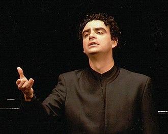 Rolando Villazón - Villazón during a recital at the Teatro Real Madrid, 2014