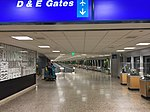 2015-04-14 00 11 43 View towards the International Terminal and Concourse D from the inner end of Concourse C in Salt Lake City International Airport, Utah.jpg