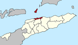 Map of East Timor highlighting Díli District