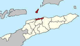 Map of East Timor highlighting Díli Municipality