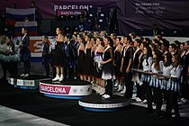 2015 Grand Prix Synchronized Skating Medal Ceremonies.