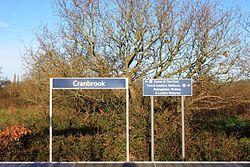 2015 at Cranbrook station - direction sign.JPG