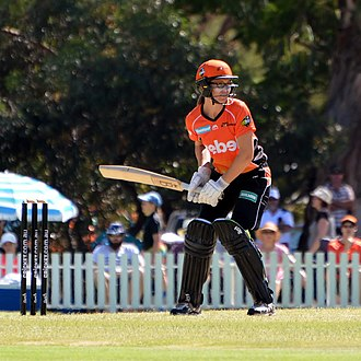 Lauren Ebsary - Ebsary batting for Perth Scorchers, 2017