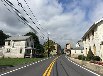 Mount Savage, Maryland - Image: 2016 06 25 09 47 34 View south along Maryland State Route 36 (Mount Savage Road) just east of St. Georges Lane in Mount Savage, Allegany County, Maryland