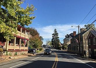 Hillsboro, Loudoun County, Virginia - SR 9 through Hillsboro