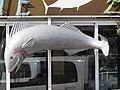 2018-02-19 Big fish statue, Restaurant Zé do Peixe Assado, Estrada de Santa Eulália, Albufeira.JPG