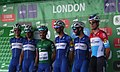 2018 Tour of Britain stage 8 - Team Quick Step Floors signing in.JPG