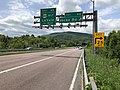 2019-05-17 13 49 17 View west along Interstate 68 and U.S. Route 40 (National Freeway) at Exit 40 (Vocke Road) in La Vale, Allegany County, Maryland.jpg