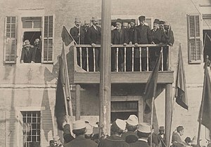 Islam in Albania (1913–1944) - Ismail Qemali on the first anniversary of the session of the Assembly of Vlorë which proclaimed the independence of Albania.
