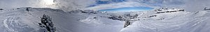 Flaine - 360° panorama of Flaine, from the Almandine run.