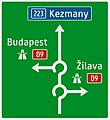410-57 Smerová predzvesť (križovanie s diaľnicou, kruhové objazdy).jpg