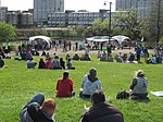 Glasgow cannabis enthusiasts celebrate 'green' on city green