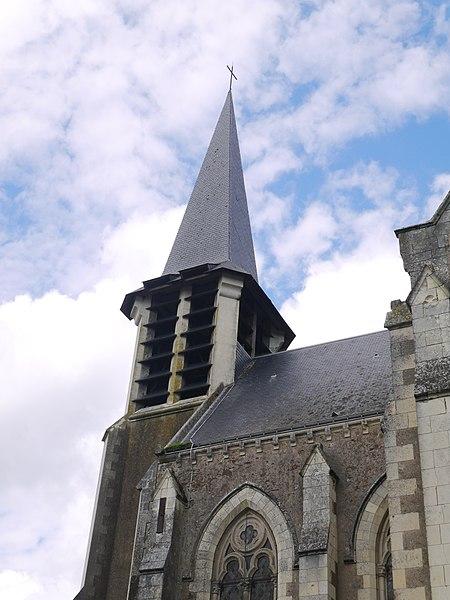 Le clocher de l'église.