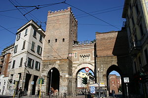 Porta Ticinese (Medieval Gate of Milan) - The ancient Porta Ticinese city gate